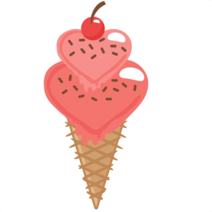 Heart Ice Cream Cone SVG cutting files for scrapbooking free svg cuts cute cut files for cricut cute svgs