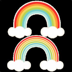 Rainbows SVG cutting file for scrapbooking cute cut files free svgs cricut silhouette svg cut files clip art