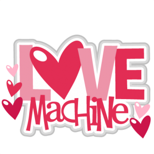 Love Machine scrapbook titles SVG cutting files robot cut files for scrapbooking clip art clipart doodle cut files for cricut free svg cuts