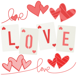 Love Set scrapbook titles SVG cutting files robot cut files for scrapbooking clip art clipart doodle cut files for cricut free svg cuts