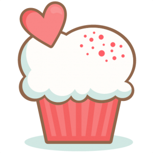 Valentine Cupcake scrapbook cuts SVG cutting files doodle cut files for scrapbooking clip art clipart doodle cut files for cricut free svg cuts