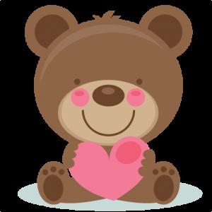 Cute Valentine Bear scrapbook cuts SVG cutting files doodle cut files for scrapbooking clip art clipart doodle cut files for cricut free svg cuts