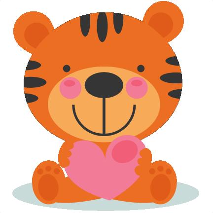 Cute Valentine Tigger Scrapbook Cuts Svg Cutting Files Doodle Cut