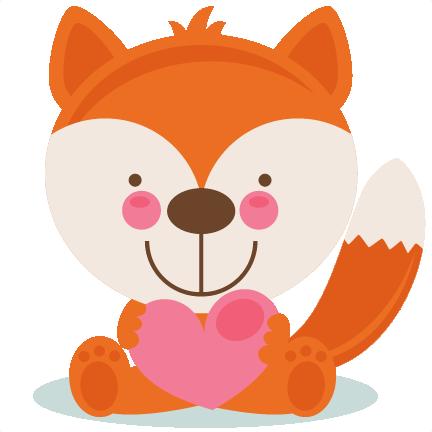 Cute Valentine Fox Scrapbook Cuts Svg Cutting Files Doodle Cut Files