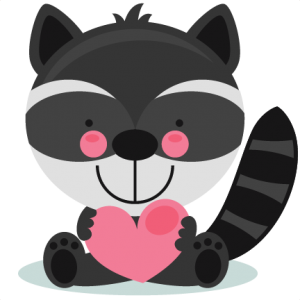 Cute Valentine Raccoon scrapbook cuts SVG cutting files doodle cut files for scrapbooking clip art clipart doodle cut files for cricut free svg cuts