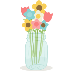 Flowers In Mason Jar SVG cutting files doodle cut files for scrapbooking clip art clipart doodle cut files for cricut free svg cuts