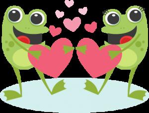 Toads in Love Valentine scrapbook cuts SVG cutting files doodle cut files for scrapbooking clip art clipart doodle cut files for cricut free svg cuts