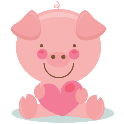 cute valentine pig scrapbook cuts svg cutting files doodle cut files for scrapbooking clip art clipart doodle cut files for cricut free svg cuts - Valentine Pig