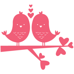 Birds In Love scrapbook titles SVG cutting files robot cut files for scrapbooking clip art clipart doodle cut files for cricut free svg cuts