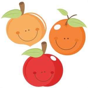 Cute Fruit peach apple orange scrapbook cuts SVG cutting files doodle cut files for scrapbooking clip art clipart doodle cut files for cricut free svg cuts