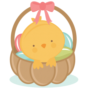 Chick in Easter Basket scrapbook cuts SVG cutting files doodle cut files for scrapbooking clip art clipart doodle cut files for cricut free svg cuts