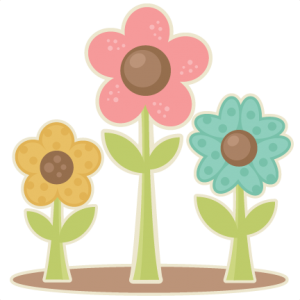 Easter Flowers scrapbook cuts SVG cutting files doodle cut files for scrapbooking clip art clipart doodle cut files for cricut free svg cuts