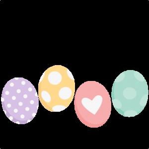 Easter Eggs scrapbook cuts SVG cutting files doodle cut files for scrapbooking clip art clipart doodle cut files for cricut free svg cuts