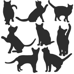 Cat Silhouette Set SVG scrapbook title cat svg cut files kitten svg cut files free svgs free svg cuts
