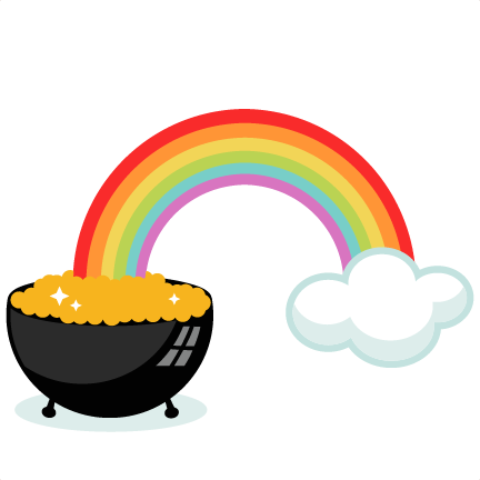 pot of gold with rainbow svg cutting files for Pot of Gold Clip Art Pot of Gold Clip Art