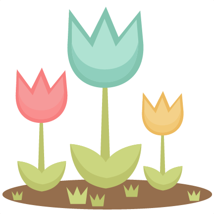 Spring Tulips SVG cutting file for scrapbooking cute cut ...