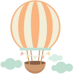 Hot Air Balloon cute scrapbook cuts SVG cutting files doodle cut files for scrapbooking clip art clipart doodle cut files for cricut free svg cuts