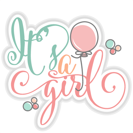 It's a Girl title SVG cut files for scrapbooking cherry ...