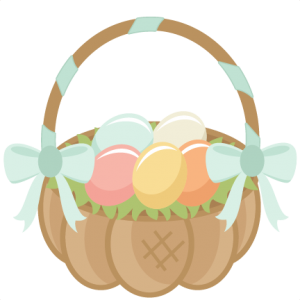 Easter Basket scrapbook cuts SVG cutting files doodle cut files for scrapbooking clip art clipart doodle cut files for cricut free svg cuts