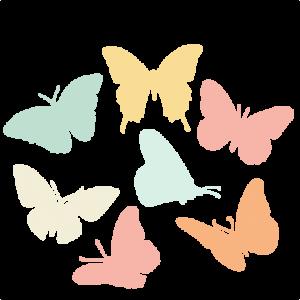 Butterfly  Silhouette Set SVG scrapbook title cat svg cut files kitten svg cut files free svgs free svg cuts