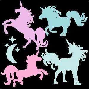 Unicorn Silhouette Set SVG scrapbook title cat svg cut files kitten svg cut files free svgs free svg cuts