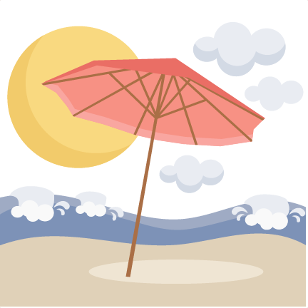 Beach Umbrella Scene SVG scrapbook cut file cute clipart ...