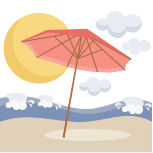 Beach Umbrella Scene SVG scrapbook cut file cute clipart files for silhouette cricut pazzles free svgs free svg cuts cute cut files