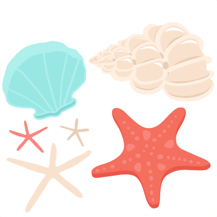 Seashell Set SVG scrapbook cut file cute clipart files for ...