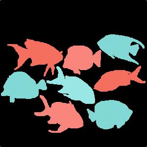 Tropcial Fish Set Svg Scrapbook Cut File Cute Clipart Files For