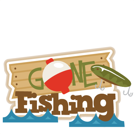 Gone Fishing Title SVG scrapbook title fishing svg cut