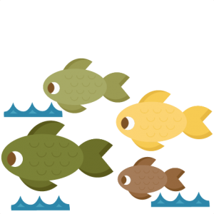 Fish Group SVG scrapbook cut file cute clipart files for silhouette cricut pazzles free svgs free svg cuts cute cut files