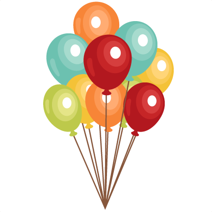 Birthday Balloons clip art SVG scrapbook cut file cute clipart files ...