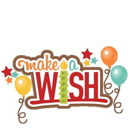Make A Wish Title Clip Art Svg Scrapbook Cut File Cute