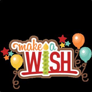 Make A Wish Title clip art  SVG scrapbook cut file cute clipart files for silhouette cricut pazzles free svgs free svg cuts cute cut files