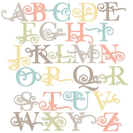 Download Flourish Uppercase Alphabet SVG scrapbook cut file cute ...