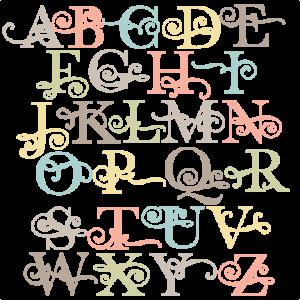 Flourish Uppercase Alphabet SVG scrapbook cut file cute clipart files for silhouette cricut pazzles free svgs free svg cuts cute cut files