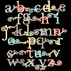 Flourish Lowercase Alphabet SVG scrapbook cut file cute clipart files for silhouette cricut pazzles free svgs free svg cuts cute cut files