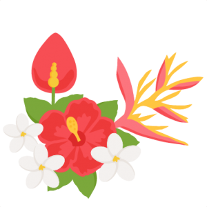 Tropical Flowers SVG scrapbook cut file cute clipart files for silhouette cricut pazzles free svgs free svg cuts cute cut files