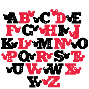 Mouse Uppercase Alphabet SVG scrapbook cut file cute clipart files for silhouette cricut pazzles free svgs free svg cuts cute cut files