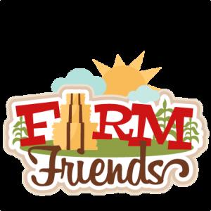 Farm Friends Title SVG scrapbook cut file cute clipart files for silhouette cricut pazzles free svgs free svg cuts cute cut files